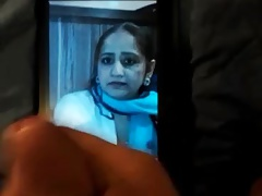 Pakistani aunty cummed on