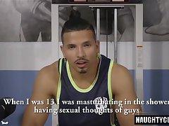 Big dick gay dp with cumshot
