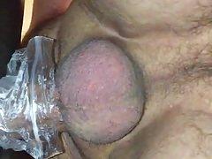 Me using homemade masturbation device