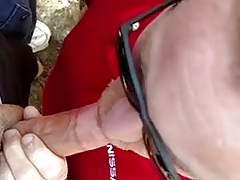 Cum and blow in the park
