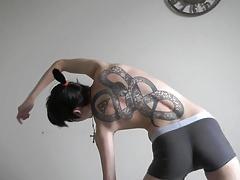 Asian FTM exercising