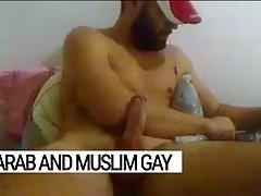 The Arab gay, bearded sex addict