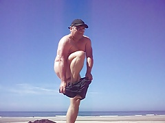 lilian77 chastity belt in the beach 2016