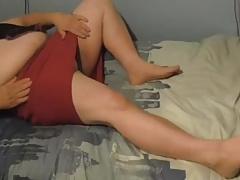 Skirt and panties display