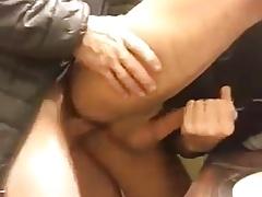 Fuck in the bathroom Bareback