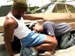White lad loves large black cock