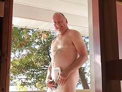 Avatar Lady gets Piss and Cum tribute, outdoors!