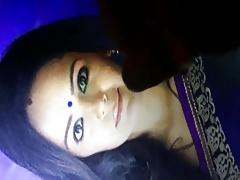 Mona Singh sexy face cummed