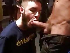 Sucking huge outdoor