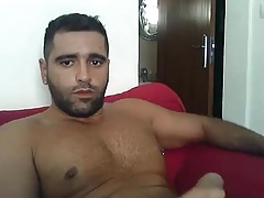 Hairy turkish wanking and shooting
