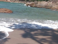Horny gorgeous gay couple fuck right there on the beach