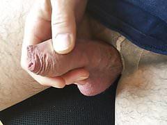 Foreskin and tan pantyhose