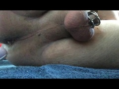 Loads of cum milked in cage