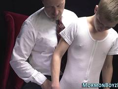 Mormon twink ass spanked