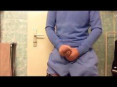 Boner WIth Super Hung Bulge And Jerking Off