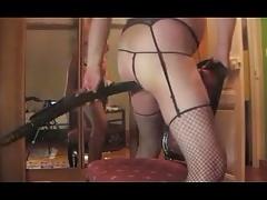 crossdresser ladyboy anal dildo toy fetish man fisting