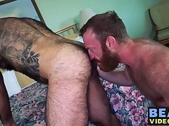 Atlas Grant likes to penetrate Russell Tylers hairy bum