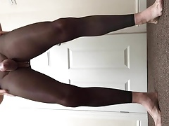Footless tights and open crotch