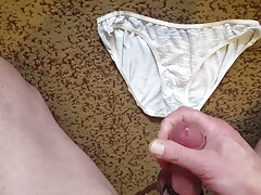 Cum on panties my wife