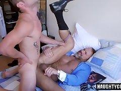 Latin daddy anal sex with cumshot