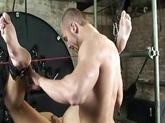 BDSM Thrall gay boy pegged down fucked schwule jungs