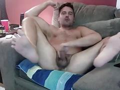 horny daddy masturbating