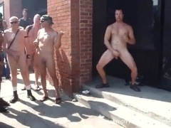 Bunch of Daddies Partying Naked in the Street