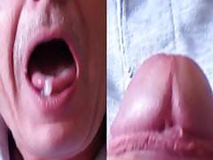 Split Screen Cum In My Mouth 5