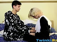 Kayden and Justin have a bareback fuck on their sleepover