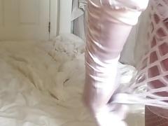 CD misty cane in white lingerie