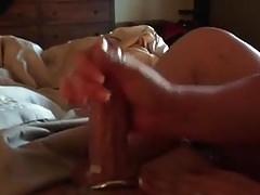 Str8 Guys Cock Getting Milked by Girlfriend  ( Hand Job )