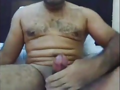 Arab with thick cock cum