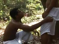 Latin Couple Fucking in Forest