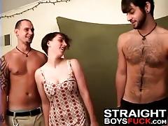 Kinky slut bangs with nasty fuckers
