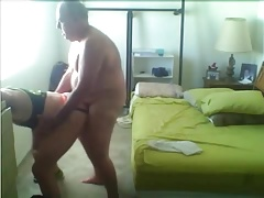 fat daddy fucks horny guy
