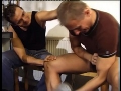 A poofter rides his BF's dick after oral sex in a gym