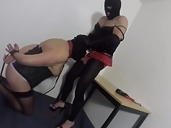 Crossdresser sucking Mistress