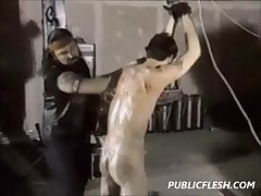 Extreme Retro Gay BDSM And Whipping