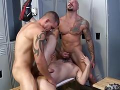 MenOver30 Sean Duran 3 Way in Locker Room