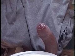 Huge Cumshot after watching jerking on porn