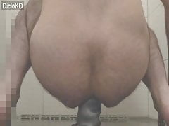 Huge 25,5 x 7,7 cm BORN TO BUCK Dildo deep in my Ass Vid02