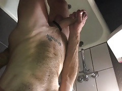 Sucking dick in the bathroom