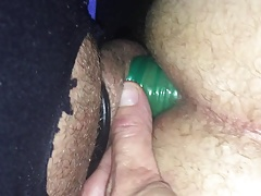piss filled condom sex in sissy with cream pie