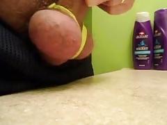 Tied big balls & small dick play