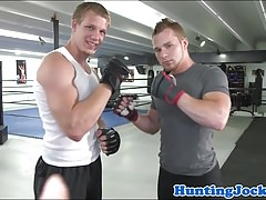Boxing hunk 69 cocksucking after training