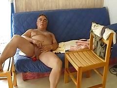 Mature older men masturbating