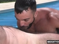 Hot gay anal and cumshot