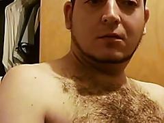 sexy hairy guy cumming
