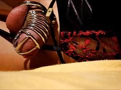 sissy cum through chastity :)