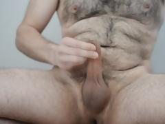 Jerking naked exhibitionist
